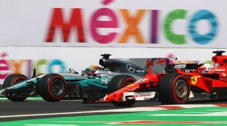 F1, Gp Messico. Lewis Hamilton e Sebastian Vettel (Afp)