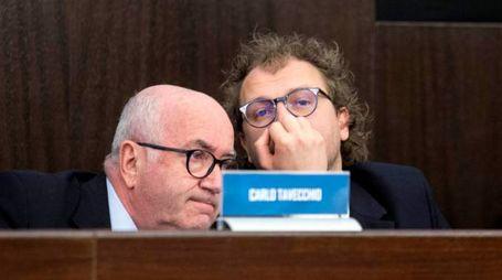 Il presidente della Figc Carlo Tavecchio e il ministro dello sport Luca Lotti (ImagoE)