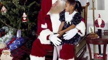 Babbo Natale e una bambina