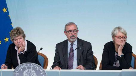 Susanna Camusso, Carmelo Barbagallo e Anna Maria Furlan (Imagoeconomica)