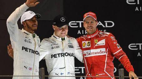 Formula 1, il podio di Abu Dhabi (Afp)