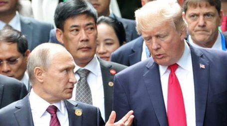 Vladimir Putin e Donald Trump (foto Ansa)