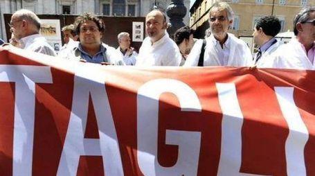 Medici in sciopero in una foto d'archivio