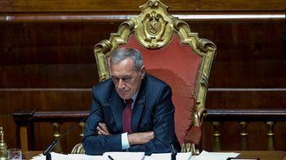 Il presidente del Senato Pietro Grasso (ImagoE)