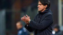 Inzaghi allena la Lazio (Ansa)