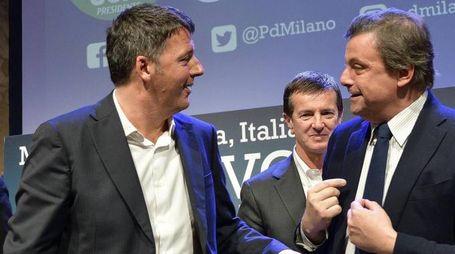 Matteo Renzi e Carlo Calenda (Ansa)
