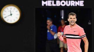 Tennis: Australia, Dimitrov soffre ma va al terzo turno