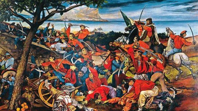 Garibaldi e i suoi Mille in un famoso dipinto di Guttuso