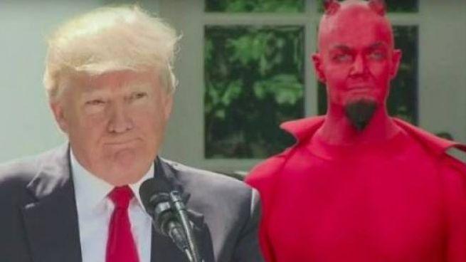 Trump e il diavolo (da Twitter)