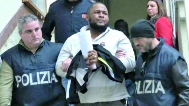 Uno dei nigeriani arrestati nel 2016 a Palermo