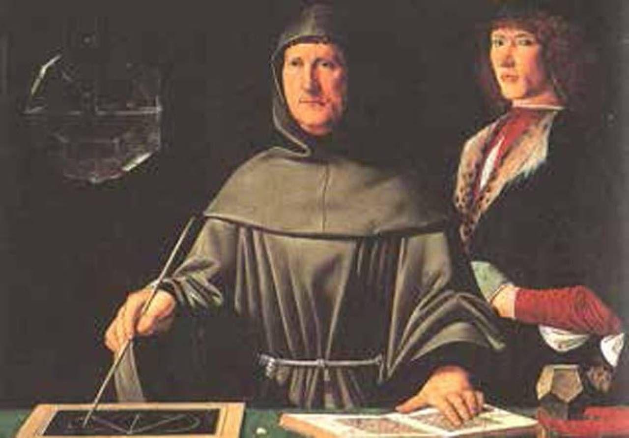 Il sommo fra' Luca Pacioli, maestro dei fondamenti scientifici dell'arte,