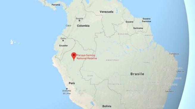 Terremoto in Perù: la cartina di Google maps