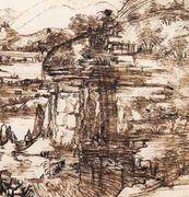 Paesaggio umbro, 5 agosto 1473, Leonardo da Vinci, Firenze, Uffizi, f. 8P