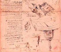 Leonardo da Vinci, Studio per uno scafandro e altri studi, 1487 circa, f.909, verso,