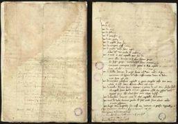 Il documento con la firma di Leonardo da Vinci