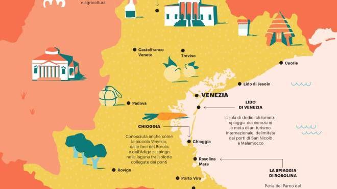 Cartina Spiagge Veneto.Veneto Patrimonio Dell Umanita Le Colline Del Prosecco Itinerari Quotidiano Net