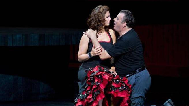 Marcello Giordano nei panni di Don Josè nella Carmen (Ansa, Dresda)