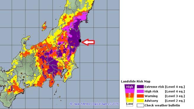 Le previsioni dell'agenzia meteo giapponese sul tifone Hagibis