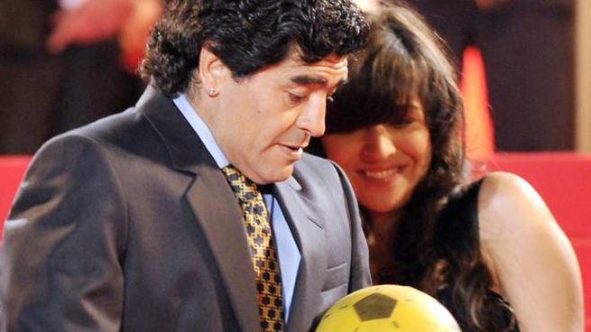 Giannina Maradona, 30 anni,  e suo padre Diego Armando, 59