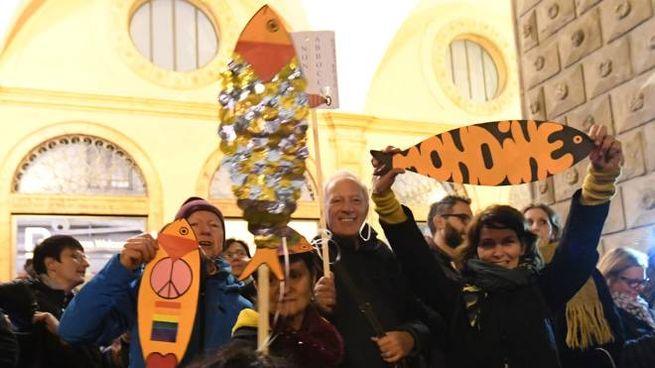 Bologna, la piazza delle sardine contro Salvini (Fotoschicchi)