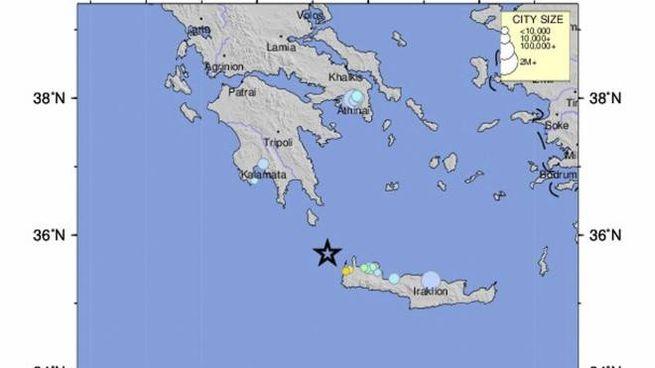 Cartina Italia Terremoti.Grecia Terremoto A Creta Oggi Di Magnitudo 6 0 Avvertito Anche In Italia Cronaca Quotidiano Net