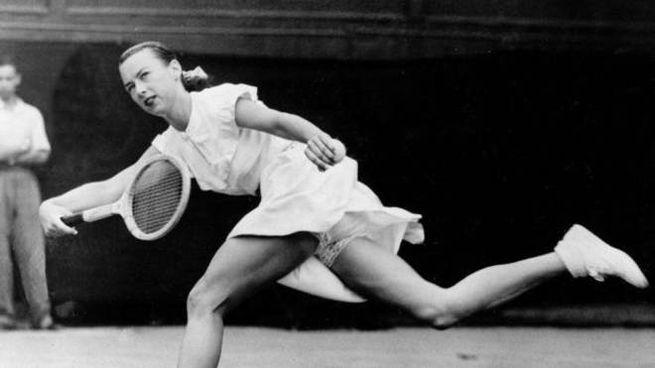 La tennista Gussie Moran