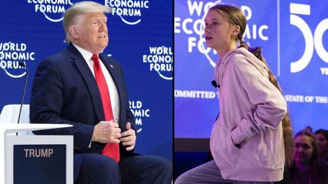 A Davos 2020 i protagonisti sono Trump e Greta Thunberg