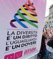 Una manifestazione per i diritti Lgbt (Ansa)