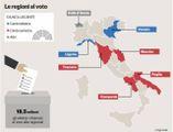 La mappa delle Regioni al voto