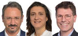 Piernicola Pedicini, Rosa D'Amato e Ignazio Corrao (Ansa)