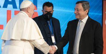 """Draghi e il Papa contro l'inverno demografico  """"La società muore se non accoglie la vita"""""""