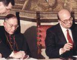La firma a Villa Madama  tra Craxi e Casaroli