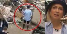 Si riempie di fango per la diretta sull'alluvione  Reporter tedesca sospesa dall'emittente