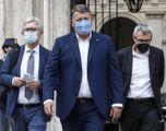 Angelo Colombini, segretario Cisl, Pierpaolo Bombardieri, Uil, e Maurizio Landini, Cgil