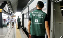 Le guardie per la security sui treni