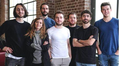 Il team di Smartplace, al centro Riccardo Suardi, fondatore e ideatore dell'app