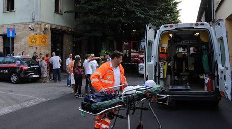 I soccorsi in via Matteotti