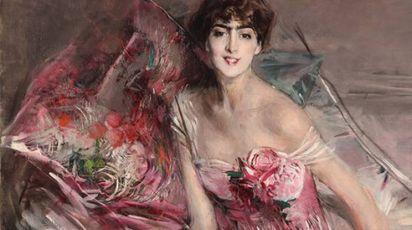 la celebre Signora in rosa di Giovanni Boldini