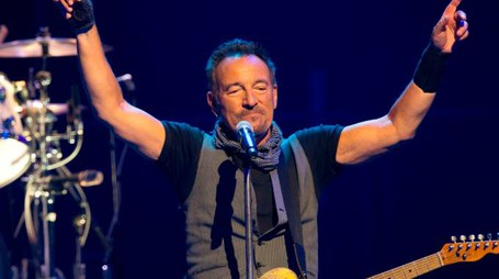 Bruce Springsteen in concerto (foto Afp)