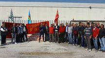La protesta di ieri alla Teuco