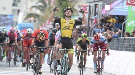 L'arrivo di una tappa del Giro d'Italia 2018