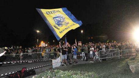 La festa per il Modena calcio (foto Fiocchi)