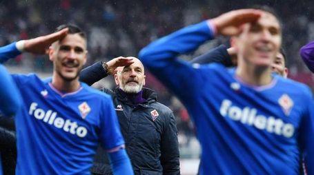 Il saluto della Fiorentina, Pioli incluso, a Davide Astori