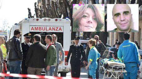 Nella foto i due feriti, Paola Martinozzi e Massimiliano De Simone