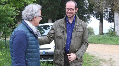 L'assessore Mazzini con Massimo Betti a Mociano