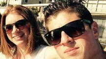 Chiara Ribechini con il fidanzato Nicola