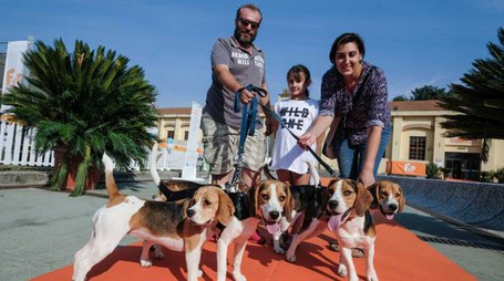 """Follow your pet"" alla Fortezza da Basso (foto Giuseppe Cabras/New Press Photo)"