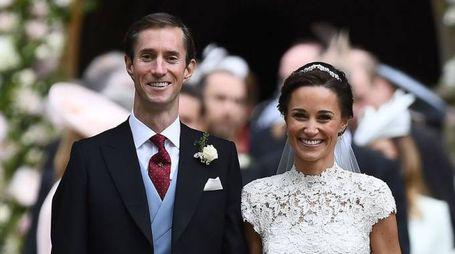 Il matrimonio di Pippa Middleton con James Matthews (Afp)