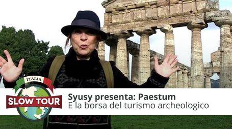 Syusy a Paestum per la Borsa del Turismo Archeologico