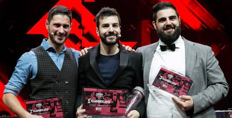 Il podio della Campari Barman Competition 2018 – Foto: Campari